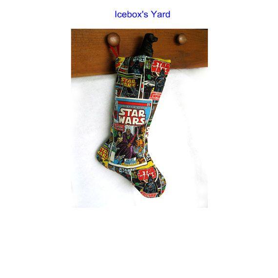Space Christmas Stockings Movie Fan Christmas by IceboxsYard