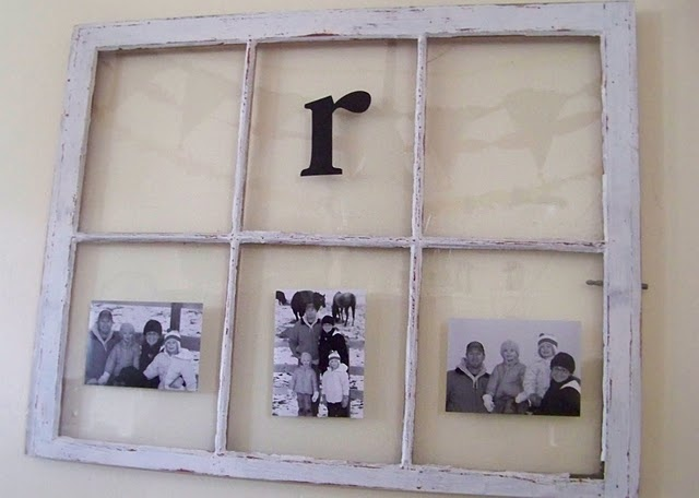 Could Put A Big J On One Window Pane And Fill The Rest With Our Pictures · Window  Frame DecorFrames ...