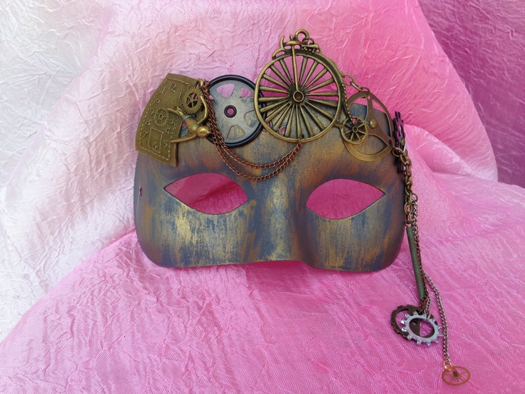 OOAK One of a Kind Steam Punk Masquerade Mask. $40.00  www.romanticdesires.etsy.com