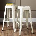 Tolix Beyaz bar sandalyesi 76 cm