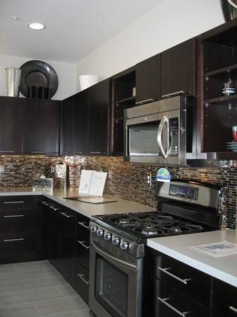 Awesome Dark Cabinets with Granite