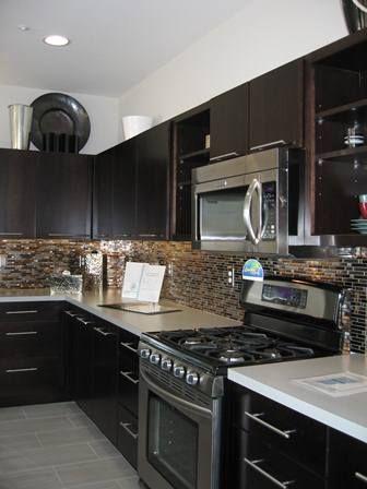 Dark Kitchen Cabinets Backsplashes Posts Related To Kitchen Tile Backsplash With Black Cabinet