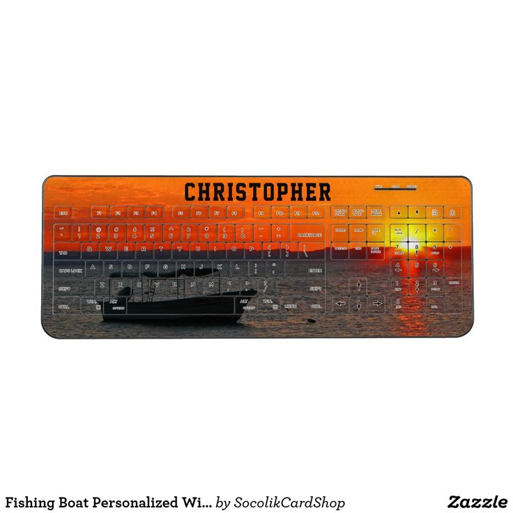 available on 2 products Fishing Boat Personalized Wireless Keyboard Personalized wireless keyboard, decorated with our original photograph of a fishing boat at sunset! Personalized with your name in large black letters near the top, against the orange sunset sky! All Rights Reserved © 2017 Alan & Marcia Socolik.
