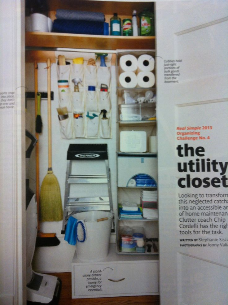 Utility Closet Storage Home Decor