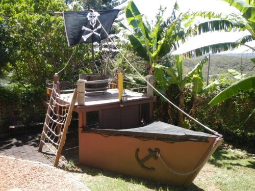 Pirate Ship Cubby House Fort With Sand Pit
