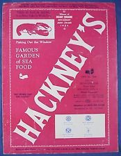 Early 1950s Hackney's Restaurant On The Boardwalk Atlantic City MENU Seafood