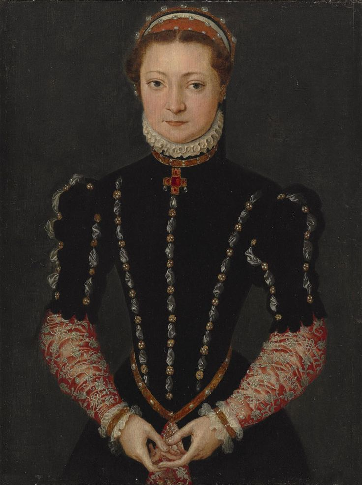 An Unknown Noblewoman, by Pieter Jansz. Pourbus (1524 - 1584). Oil on panel: 16 1⁄4 x 12 1⁄4 in. (41.3 x 31.2 cm.) Painted c. 1565