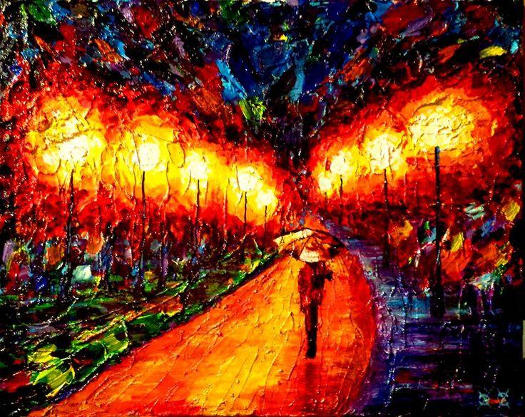 paintings by blind artist John Bramblitt