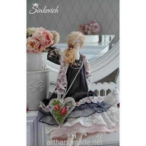 Tilda doll Agnes. Author Nadezhda Sinkevich - http://arthandmade.net/sinkevich.nadejda  Doll, tilda, tilda doll, textile doll, interior doll, collectible doll, handmade doll, gift, original gift, handmade, craft, interior, collection, Gallery Magical world, кукла, купить куклу, тильда, кукла тильда, текстильная кукла, интерьерная кукла, коллекционная кукла, кукла ручной работы, подарок, оригинальный подарок, ручная работа, коллекция, интерьер, Галерея Волшебный мир