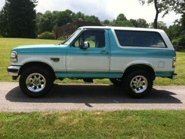 1995 Ford Bronco XLT Sport Utility 2-Door 5.0L