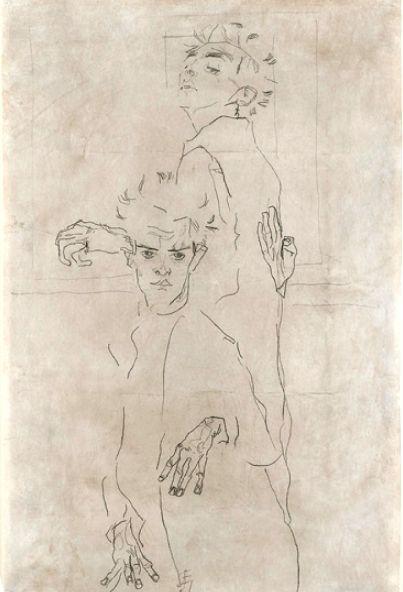 Egon Schiele: Double Autoportrait, 1910.