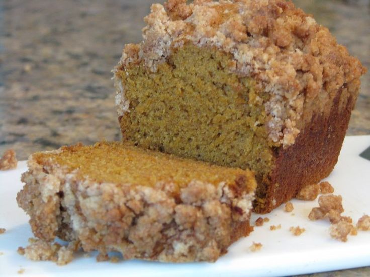 Pumpkin Bread with a Cinnamon - Brown Sugar Crumb Topping - Friends Food Family | Quick and Easy Recipes