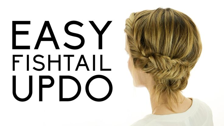 Easy Fishtail Updo... doing this the next time I need to dress up :)