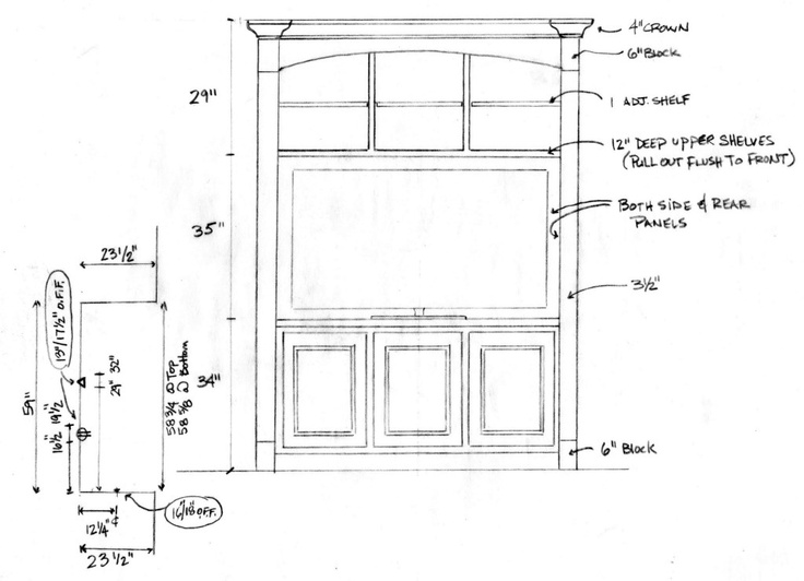 55 best Misc Drawings & Elevations for Custom Cabinets