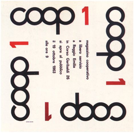 Albe Steiner | In 1963 he designed the first logo of Coop, which was later redesigned by Bob Noorda.
