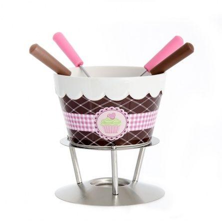 Csokoládé fondue 4 villával (12*14cm, 4 villával)