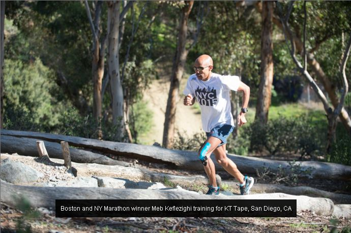 Boston and NY Marathon winner Meb Kaflezighi training KT Type, San Diego, CA