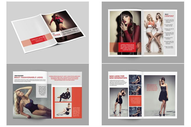 Photography Magazine Template   16 Page Photography Brochure Template   Fashion Lookbook   Photoshop & Elements Template   http://etsy.me/2DGNCx5 #magazine #lookbook #photography #template