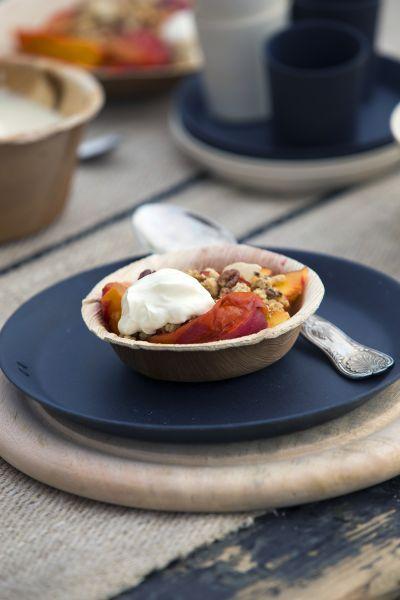 Gekaramelliseerde perziken #perzik #peach #dessert #nagerecht #recept #recipe