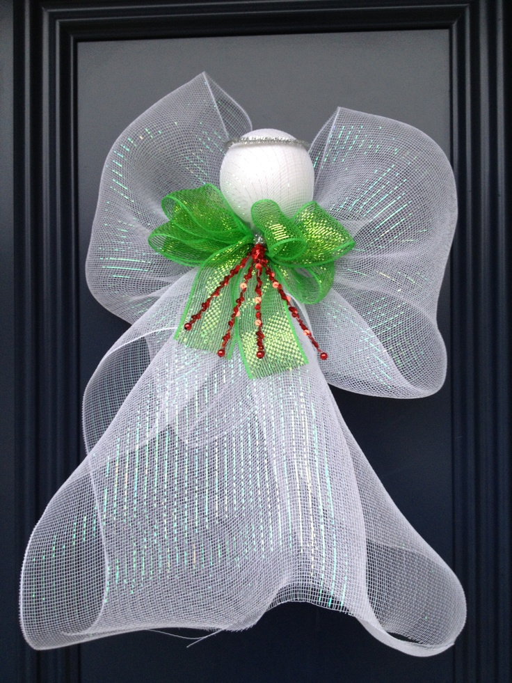 139 best angels deco mesh angels images on pinterest for Angel christmas decoration