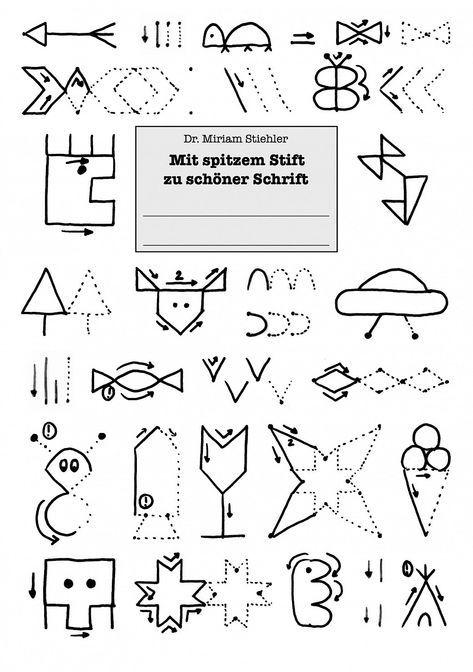 65 best Von Schwungübungen zum Schreiben images on Pinterest   Fine ...