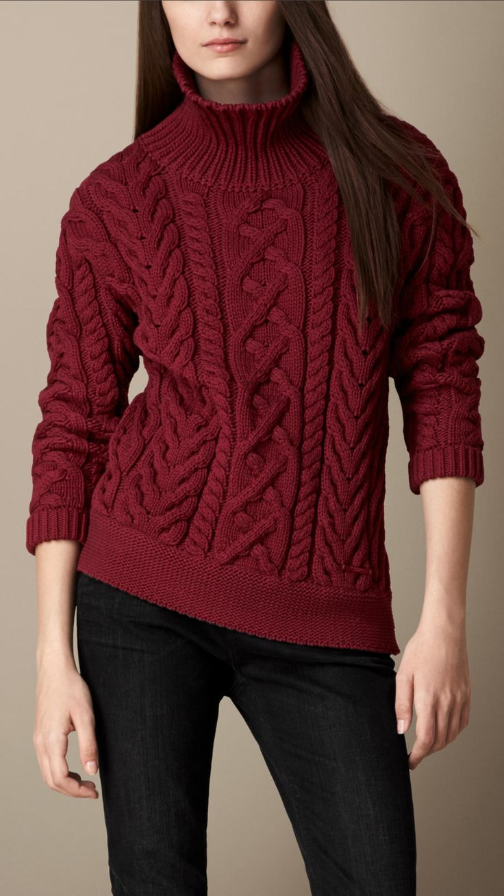 Burberry cable-knit-turtleneck-sweater