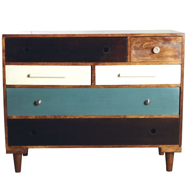 Gorgeous wooden chest of drawers by House Doctor DK at BODIE and FOU