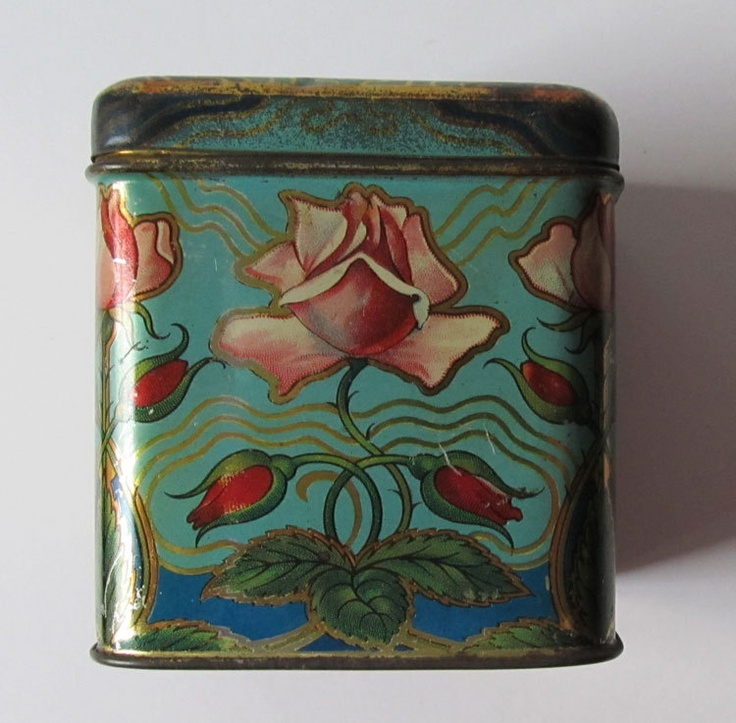 Antique Tea Tin Boxes Ridgways and Chinese Tea...something new for me to collect.