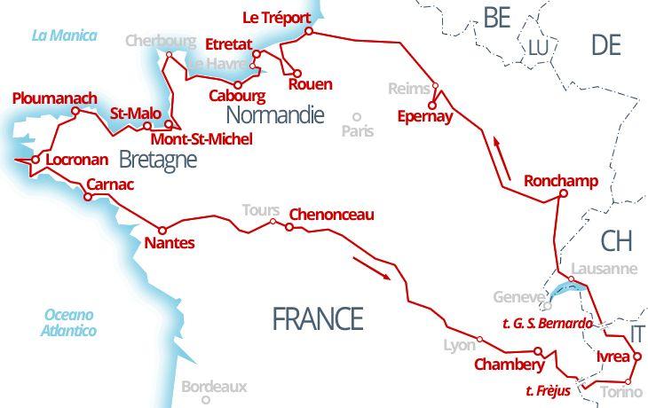 3800 km - Champagne, Normandia, Bretagna e Valle della Loira