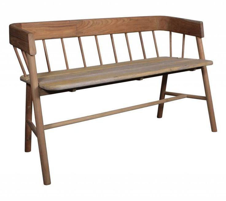A modern design on a classic style bench, beautiful in the garden or as a beautiful hallway piece of furniture, with a cushion or sheepskin. Designed by HK Living