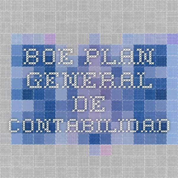 BOE  PLAN GENERAL DE CONTABILIDAD