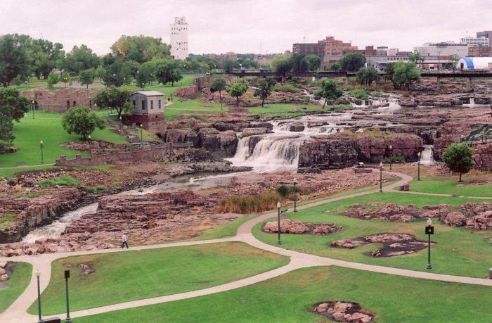 4. The view of Falls Park from the observation tower, Sioux Falls