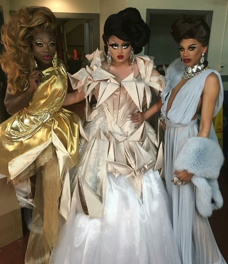 Bob the drag queen, Kim Chi and Naomi Smalls, RPDR8, winner and top 3