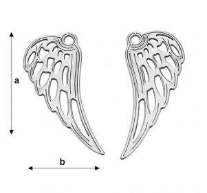 aripa inger 25.4*10.10 mm argint .925