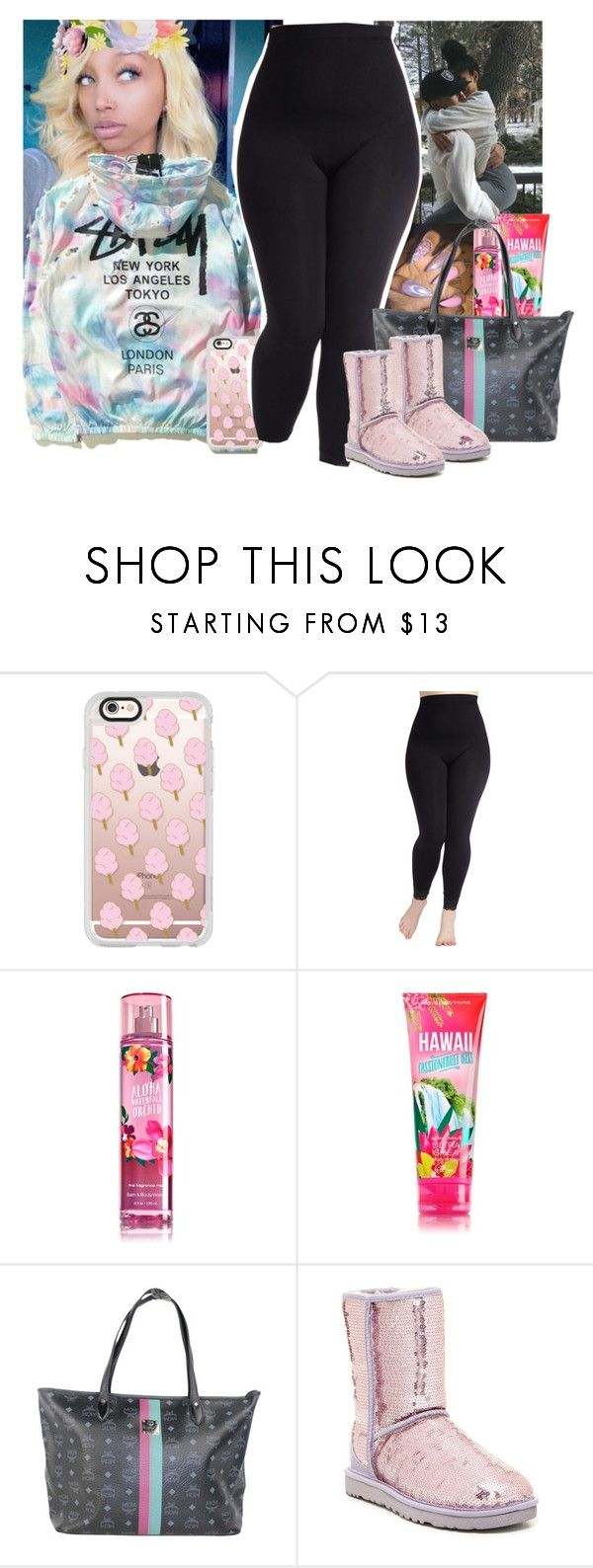 """Remember me💟💟"" by cravepinky ❤ liked on Polyvore featuring Casetify, MCM, UGG Australia and plus size clothing"
