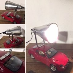 Lampe récup industriel deco loft la voiture