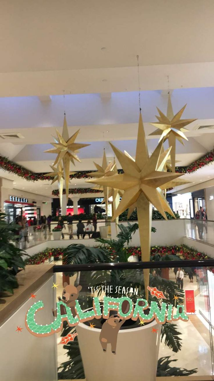 Christmas decorations at South Coast Plaza mall