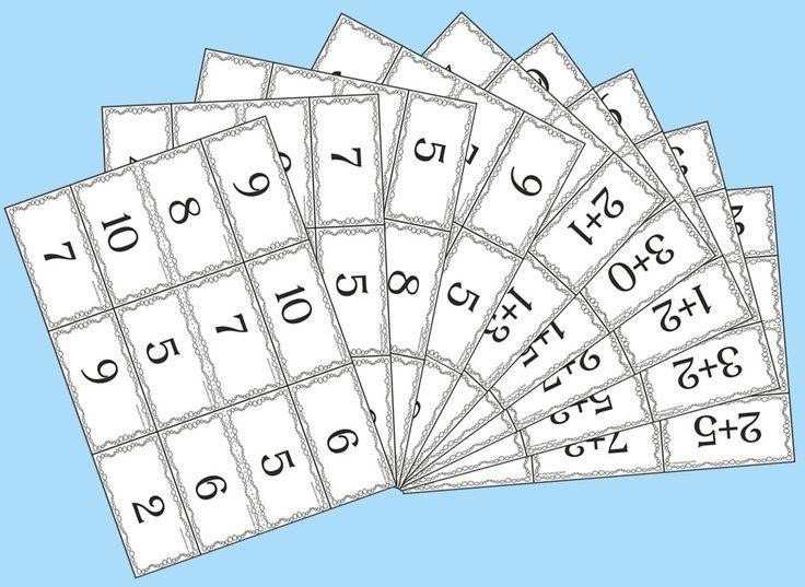 """Математическое лото """"Сложение в пределах 10"""" - Математика - Начальные классы - Обучение и развитие - ПочемуЧка - Сайт для детей и их родителей"""