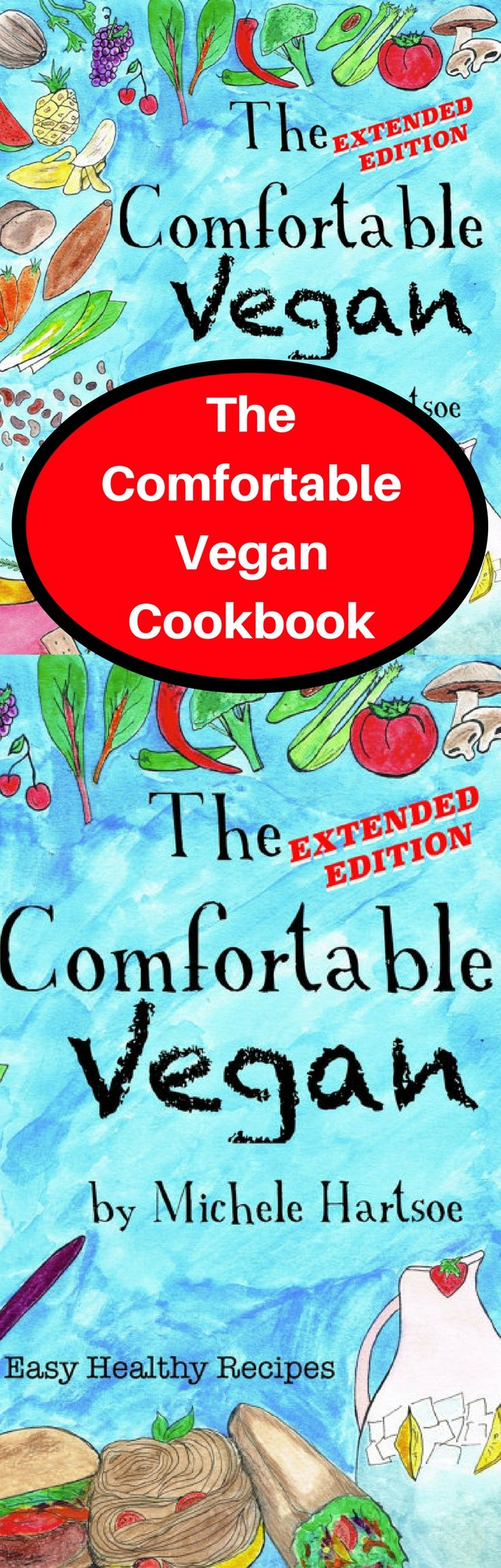 The Comfortable Vegan Cookbook.The Comfortable Vegan is an Illustrated cookbook, familiar comforting veganized Recipes with Easy Tips and Information. What is THE COMFORTABLE VEGAN? It is an Illustrated introduction to being Vegan. It is a 73 page Color Vegan recipe, tips and information book. There will be more than 40 recipes with easy to follow fun colorful layouts. A lot of information pages talking about easy VEGAN substitutes, B-12, Protein, Omega, and Calcium sources, #veganfood #cook…