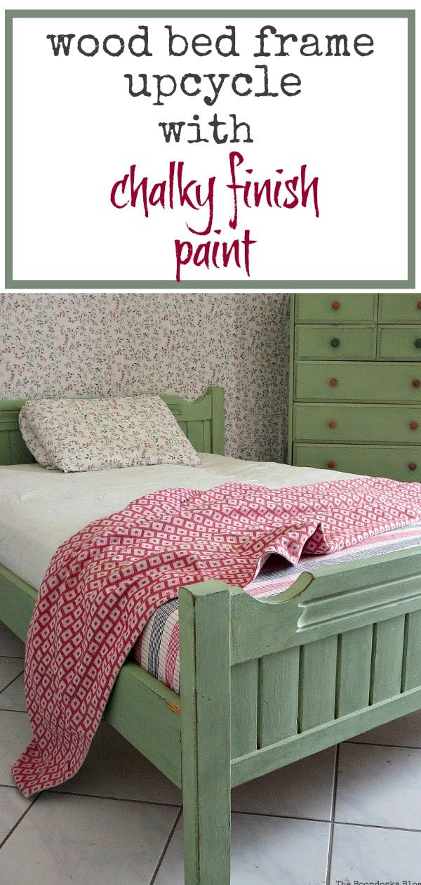 How To Makeover An Old Wooden Bed Frame The Boondocks Blog