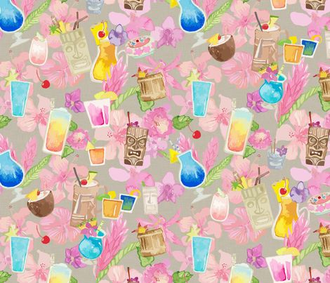 It's Tiki Time! fabric by mariden on Spoonflower - custom fabric