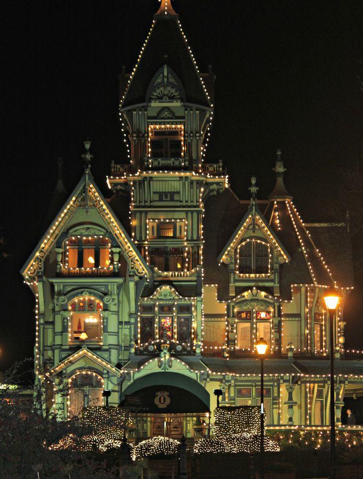 The Carson Mansion at Christmas