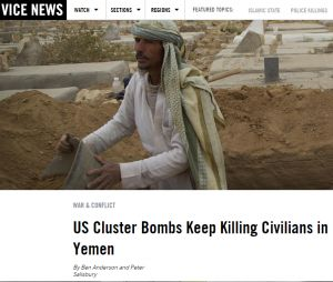 Greenwald - The Intercept NYT Claims U.S. Abides by Cluster Bomb Treaty: The Exact Opposite of Reality