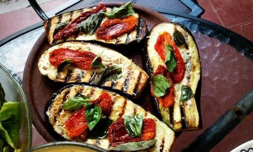 Caprese eggplants