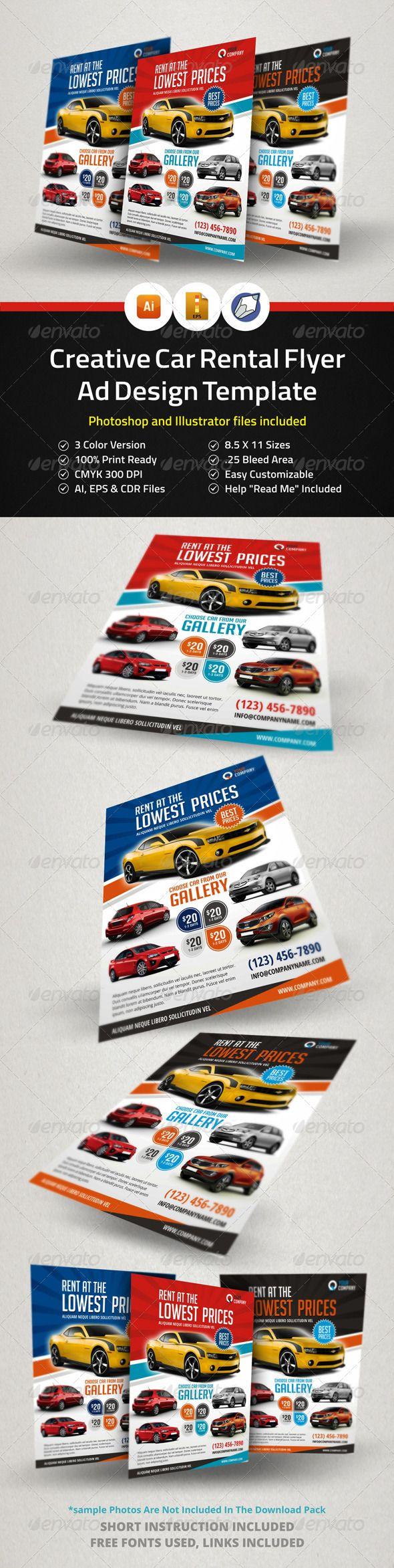 17 best images about car flyer creative promotion automotive car rental flyer ad
