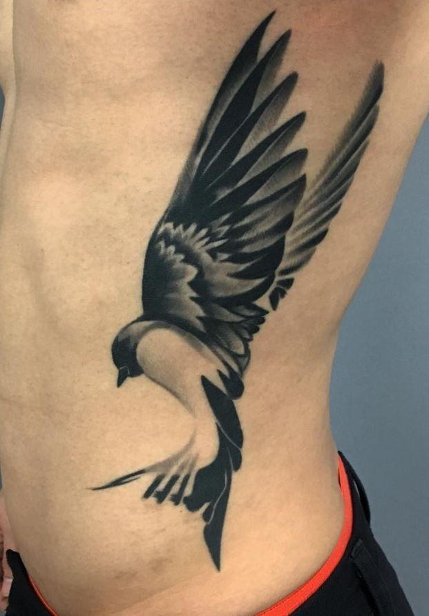 Side Bird Tattoo Inkstylemag Birds Tattoo Hip Tattoo Sparrow Tattoo