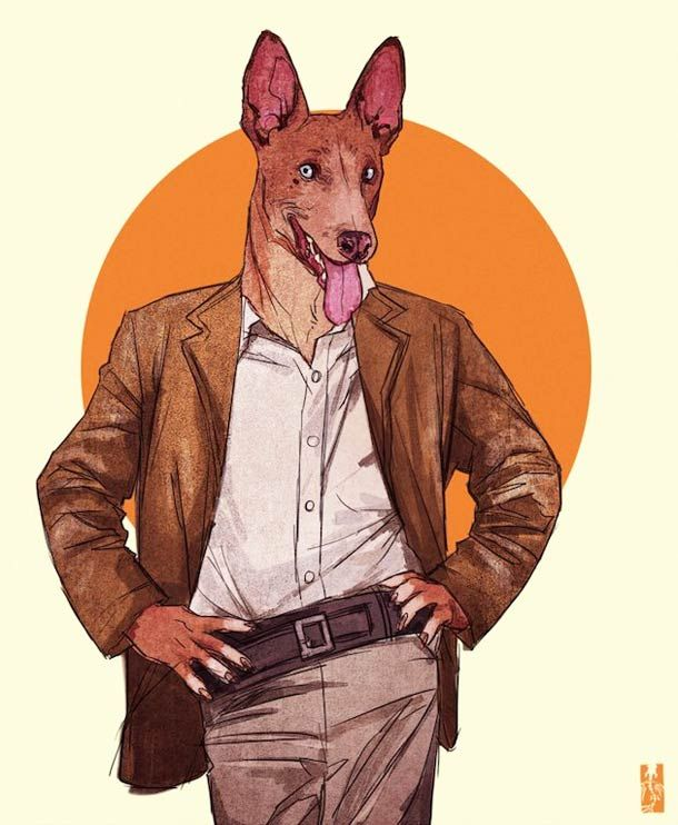 """Dans la lignée de l'excellente série """"Zoo Portraits – Les animaux habillés de Yago Partal"""", voici la série """"ANTHROS"""" de l'illustratrice vietnamienneKim"""