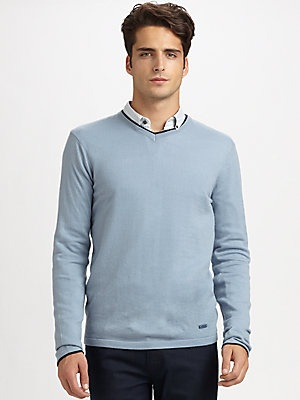 Armani Collezioni Cashmere V-Neck Sweater