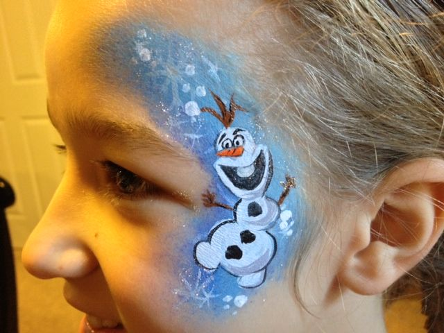 17 best images about frozen face paint ideas on pinterest for Frozen face paint