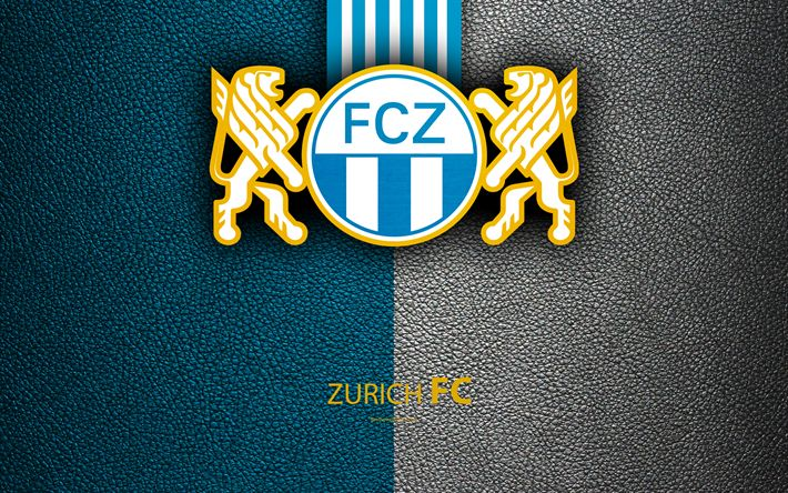 Download wallpapers Zurich FC, 4k, Swiss football club, leather texture, Zurich logo, emblem, Swiss Super League, Zurich, Switzerland, football